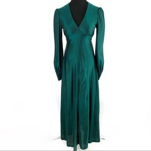 Vintage 70's Forest Green Tinsel party dress